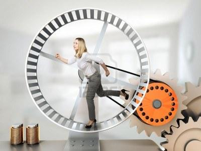 14741683-running-woman-on-3d-hamster-wheel